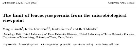 leukocytospermia
